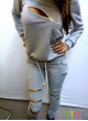 Jogging Sweatsuit with Top and Pants