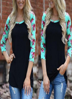 Floral Sleeves Tunic Top