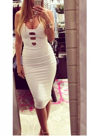 Sexy bandage bodycon sleeveless dress
