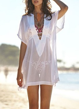 Lightweight Sheer Chiffon Sheer Beach Wrap