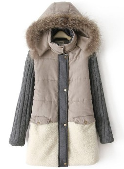 Cozy Grey Parka