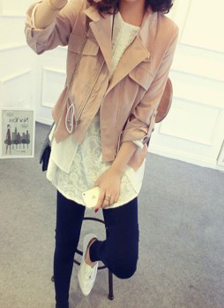 Chiffon-lined Asymmetric Jacket