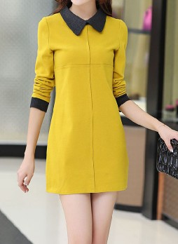 Faux Wool Mini Dress
