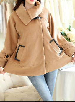 Camel-Colored Cape Coat