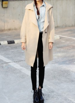 Check Out Oversized Blazer - Apricot
