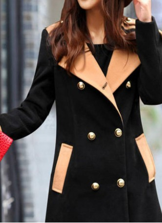 Contrasted Color Coat